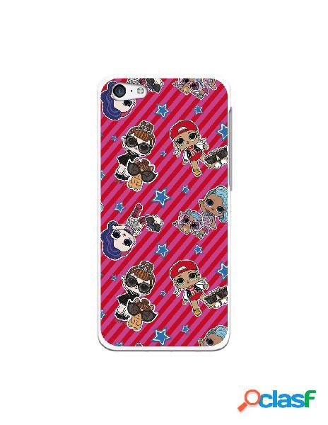 Funda para iphone 5c oficial de lol patrón lol rayas rojas - lol