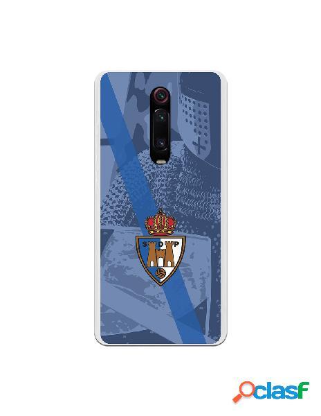 Funda oficial escudo s.d. ponferradina banda diagonal azul fondo escudero para xiaomi redmi k20