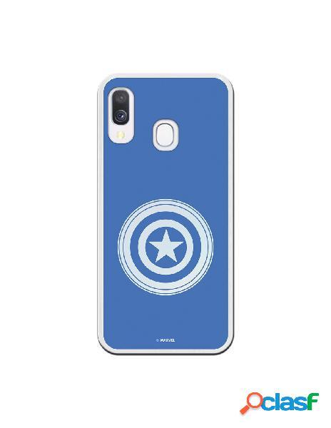 Funda oficial escudo capitán america fondo azul para samsung galaxy a40