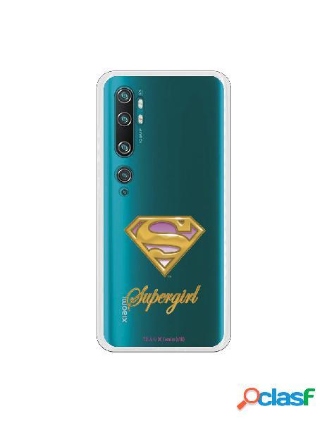 Funda para xiaomi mi note 10 pro oficial de dc comics supergirl escudo transparente - dc comics