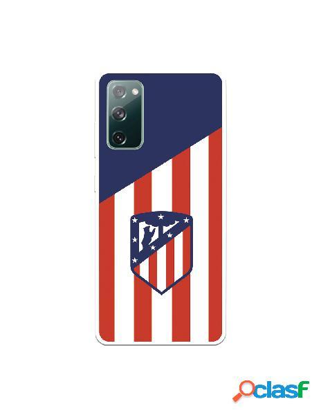 Carcasa para Samsung Galaxy S20 FE del Atleti Escudo Fondo Atletico - Licencia Oficial Atlético de Madrid