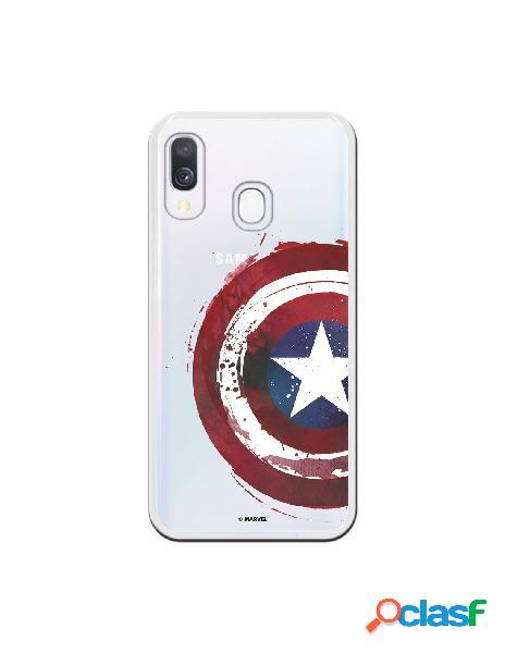 Funda oficial escudo capitán america para samsung galaxy a40