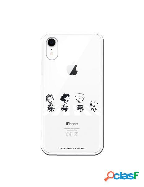 Funda para iphone xr oficial de peanuts personajes peatones - snoopy