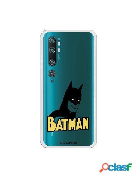 Funda para xiaomi mi note 10 pro oficial de dc comics batman silueta transparente - dc comics