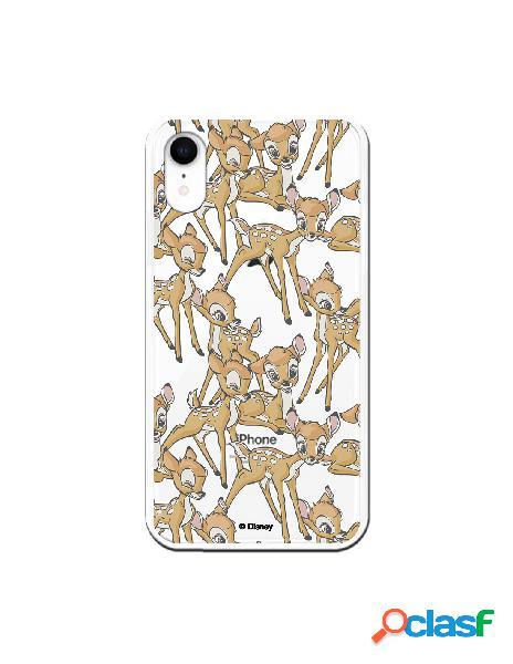 Funda para iphone xr oficial de disney personaje patrones - bambi