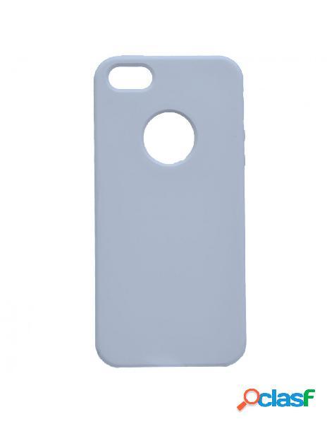 Funda ultra suave logo azul para iphone 5