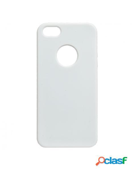 Funda ultra suave logo blanca para iphone 5