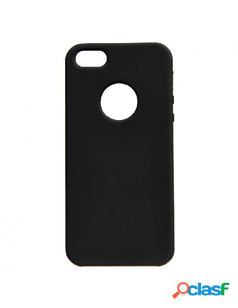 Funda ultra suave logo negra para iphone 5