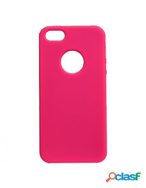 Funda ultra suave logo rosa para iphone 5s