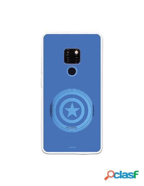 Funda oficial escudo capitan america fondo azul para huawei mate 20