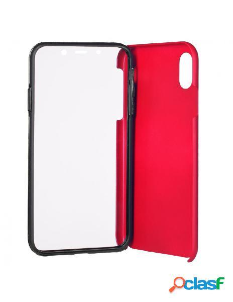 Funda cromada con tapa roja para iphone xs max