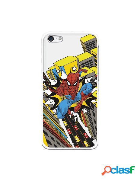 Funda para iphone 5c oficial de marvel spiderman ciudad transparente - marvel