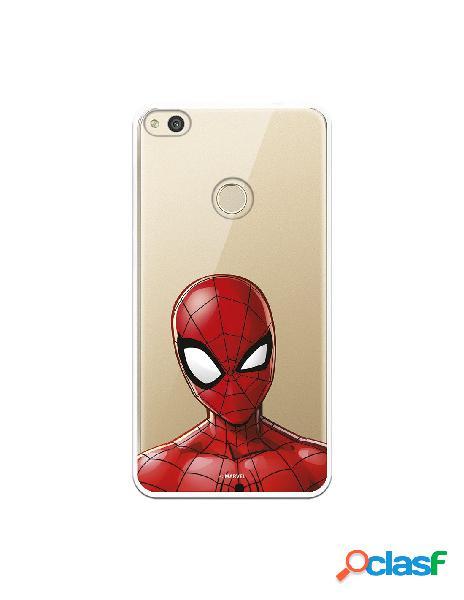 Funda para huawei p8 lite 2017 oficial de marvel spiderman silueta transparente - marvel