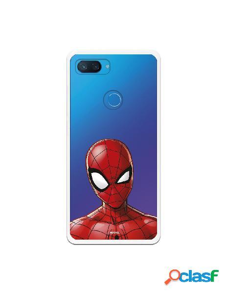 Funda para xiaomi mi 8 lite oficial de marvel spiderman silueta transparente - marvel