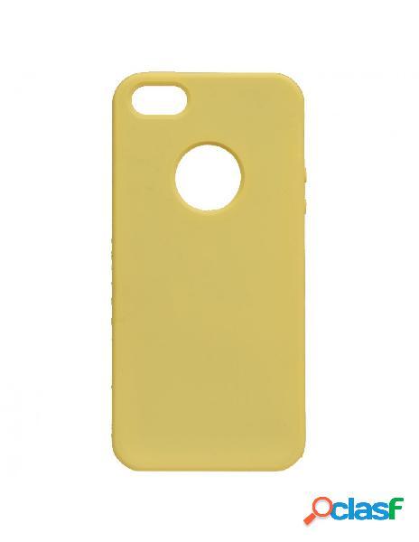 Funda ultra suave logo amarilla para iphone 5