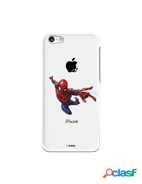 Funda para iphone 5c oficial de marvel spiderman telaraña silueta - marvel