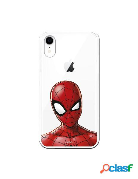 Funda para iphone xr oficial de marvel spiderman silueta transparente - marvel