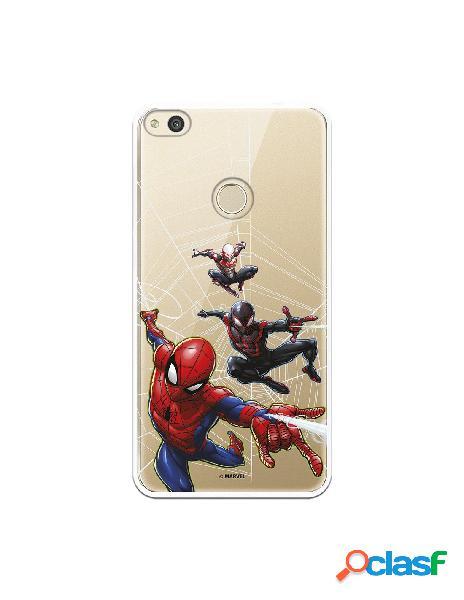 Funda para huawei p8 lite 2017 oficial de marvel spiderman telaraña patron - marvel