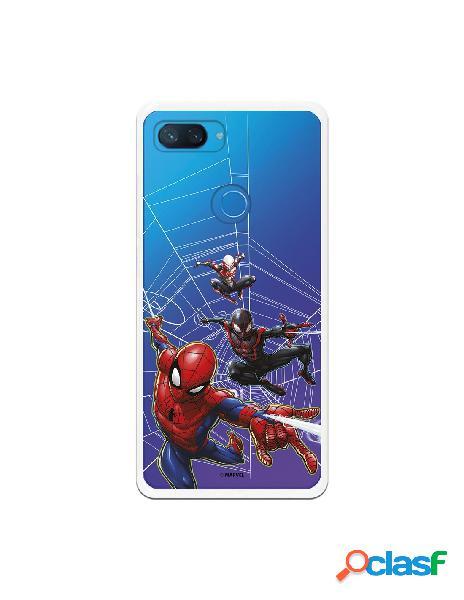 Funda para xiaomi mi 8 lite oficial de marvel spiderman telaraña patron - marvel