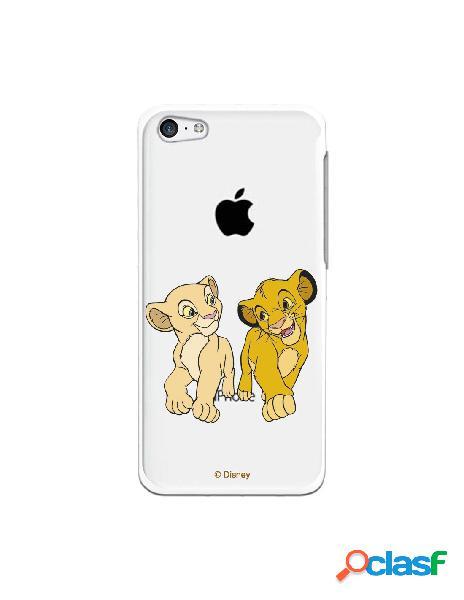 Funda para iphone 5c oficial de disney simba y nala mirada complice - el rey león