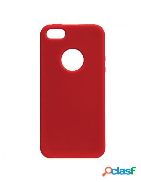 Funda ultra suave logo roja para iphone 5
