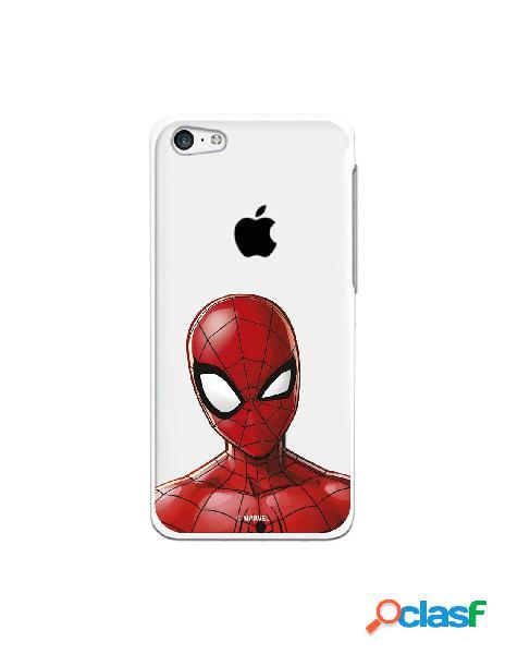 Funda para iphone 5c oficial de marvel spiderman silueta transparente - marvel