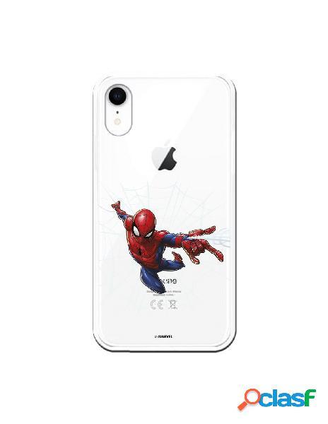 Funda para iphone xr oficial de marvel spiderman telaraña silueta - marvel