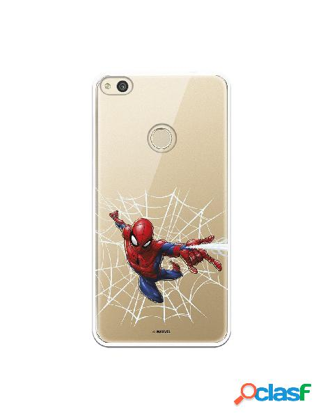 Funda para huawei p8 lite 2017 oficial de marvel spiderman telaraña silueta - marvel