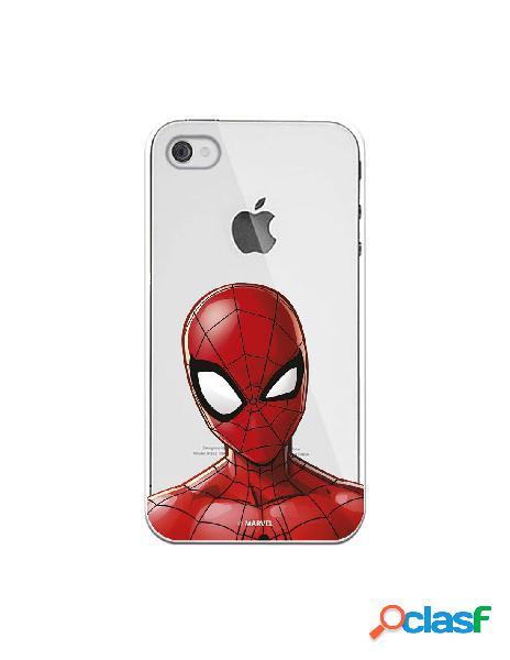 Funda para iphone 4s oficial de marvel spiderman silueta transparente - marvel