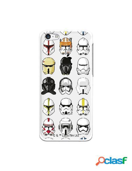 Funda para iphone 5c oficial de star wars patrón cascos - star wars