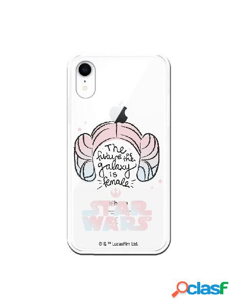 Funda para iphone xr oficial de star wars sw the future of the galaxy transparente - star wars