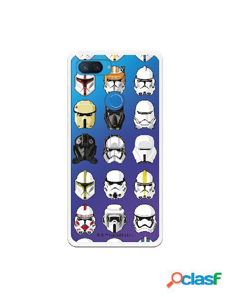 Funda para xiaomi mi 8 lite oficial de star wars patrón cascos - star wars