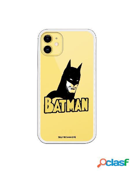 Funda para iphone 11 oficial de dc comics batman silueta transparente - dc comics