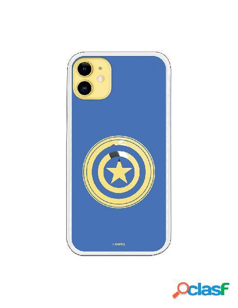 Funda para iphone 11 oficial de marvel capitán américa escudo - marvel