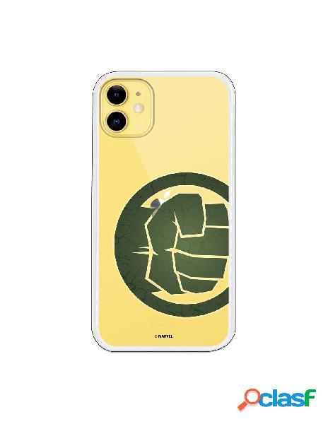 Funda para iphone 11 oficial de marvel hulk puño transparente - marvel