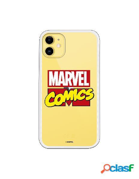 Funda para iphone 11 oficial de marvel marvel logo transparente - marvel