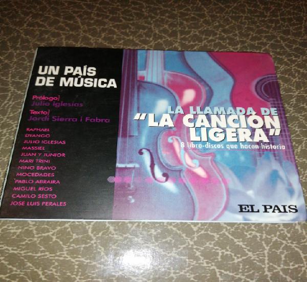 Cd libro disco la canción ligera, un país de música, el