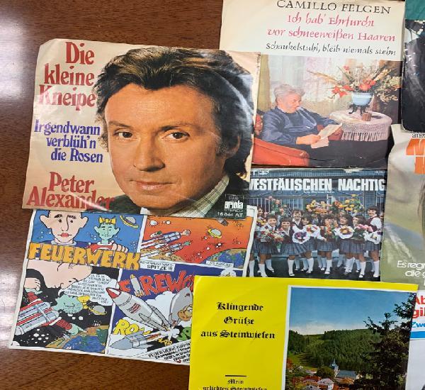 Lote 208 singles y 10 portadas alemanes, años 70
