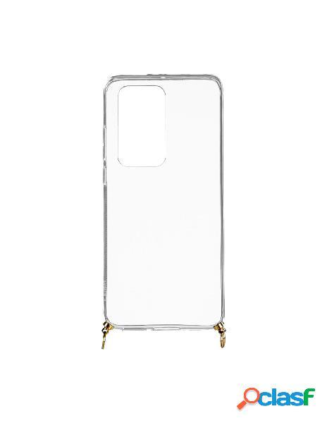 Funda silicona colgante transparente para huawei p40 pro plus