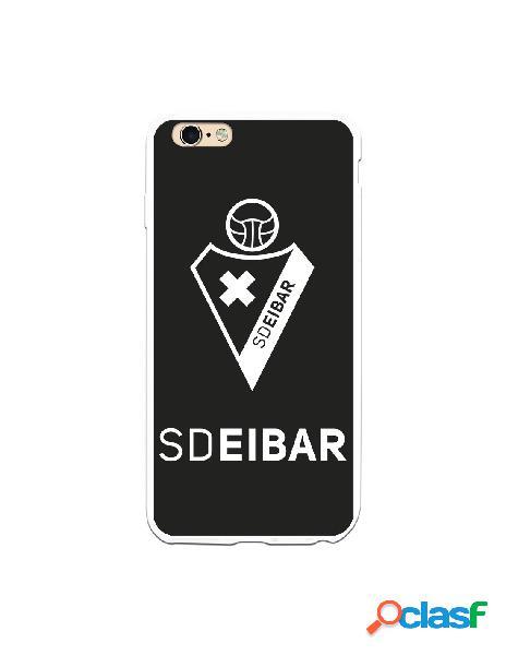 Carcasa para iphone 6s plus oficial del sd eibar escudo fondo negro - licencia oficial del sd eibar