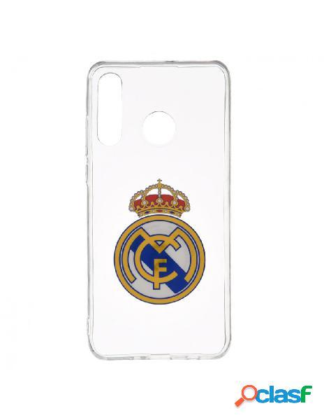 Carcasa oficial real madrid escudo transparente para huawei p30 lite