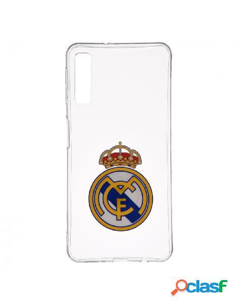 Carcasa oficial real madrid escudo transparente para samsung galaxy a7 2018