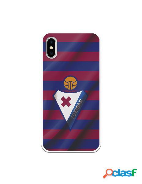 Carcasa para iphone xs oficial del sd eibar escudo franjas azulgranas - licencia oficial del sd eibar