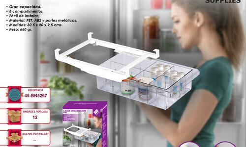 Cajón estantería organizador almacenamiento ajustable