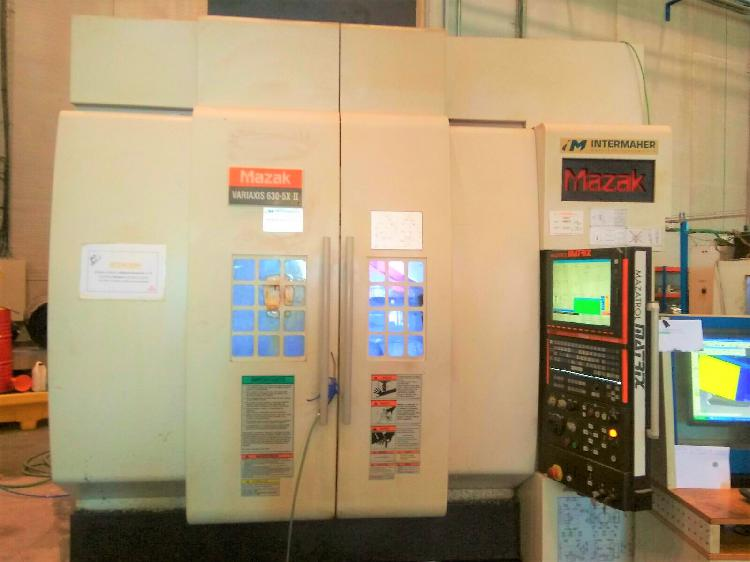 Centro de mecanizado 5 ejes mazak variaxis 630 5x ii