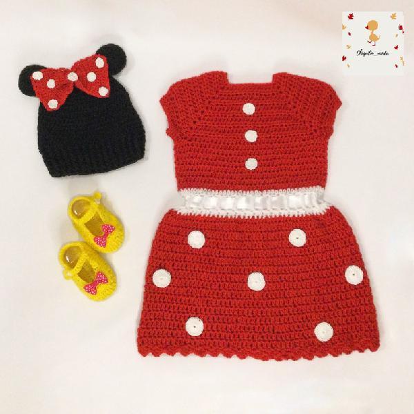 Conjunto minni mouse crochet