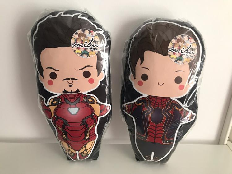 Pack peluche/cojin #avengers - ironman + spiderman
