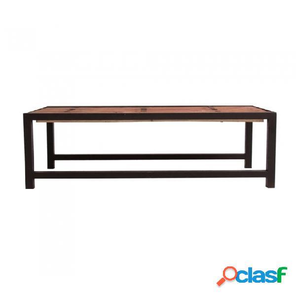 Mesa de centro marron madera y olmo industrial 130 x 64 45