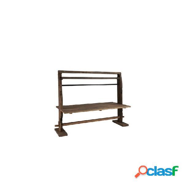 Mesa comedor marr n crudo marron reciclado y madera 200 x 100 75