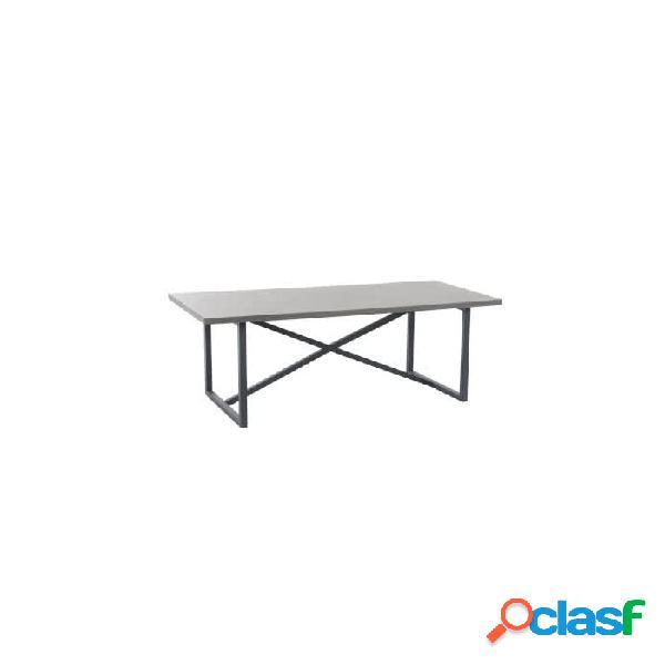 Mesa comedor gris madera y metal 190 x 90 76